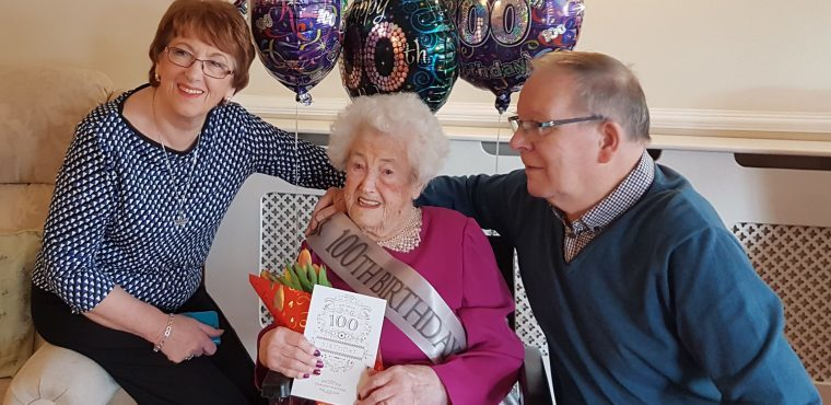 Mabel celebrates her 100th birthday with friends and family