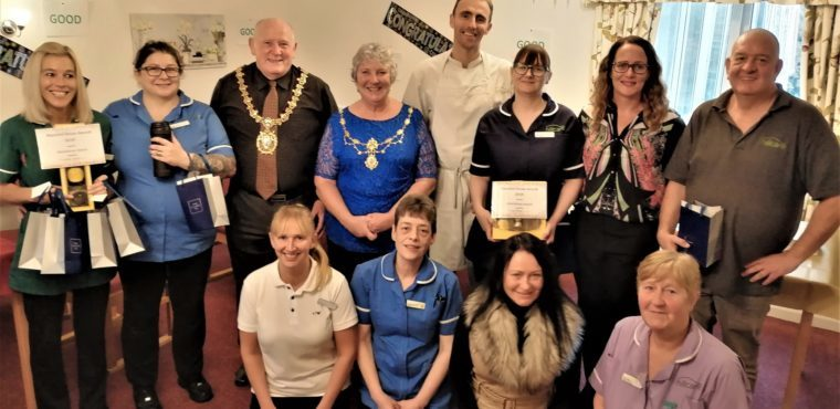 Mayor hands out awards to Thornaby care home staff