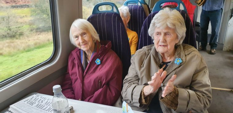 Special dementia train service brings Teesside elderly home