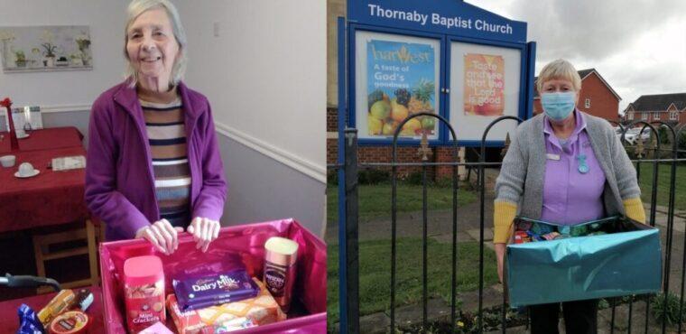 Care home donates harvest festival hamper to food bank