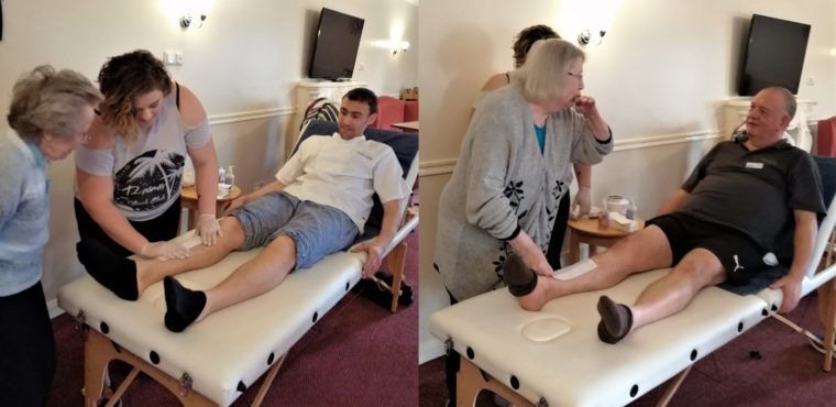 Leg waxing brings reindeer to care home's Christmas party