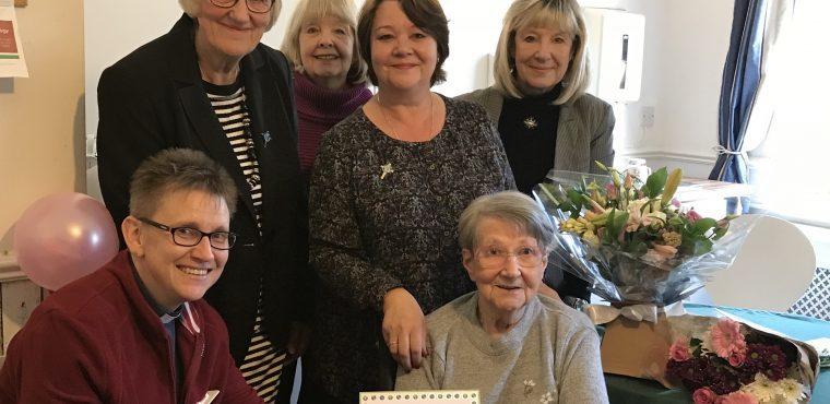Longest serving Mothers' Union member Audrey awarded