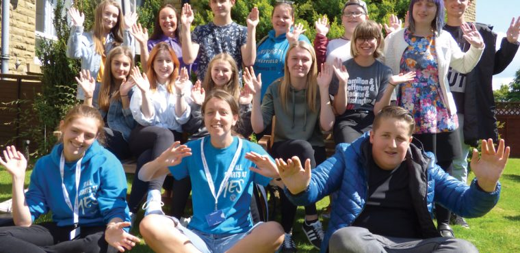 Karaoke and gardening for teen volunteers at care home