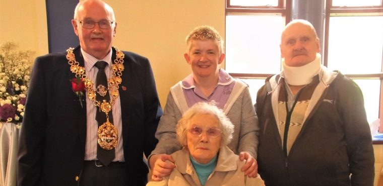Teary eyed care home resident enjoys Church flower festival