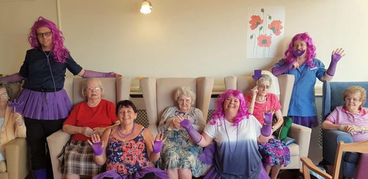 Purple wigs, beards and tutus worn for Stroke Association