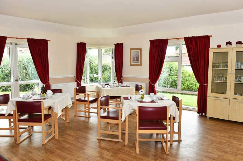 Peterlee care home dining hall