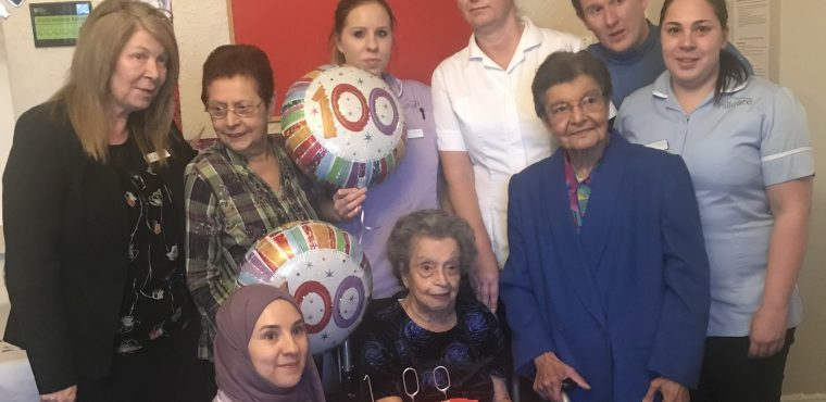 Phyliss celebrates her 100th birthday with family and friends