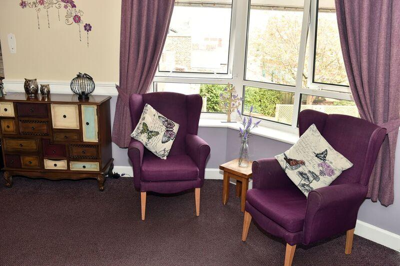 purple sitting chairs