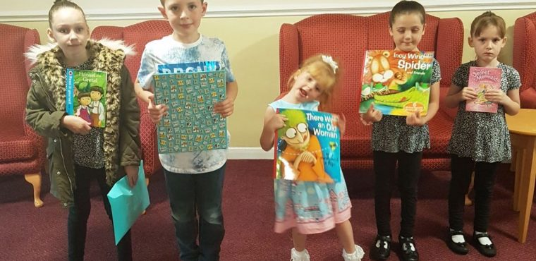 Storytelling youngsters visit care home on Read a Book Day