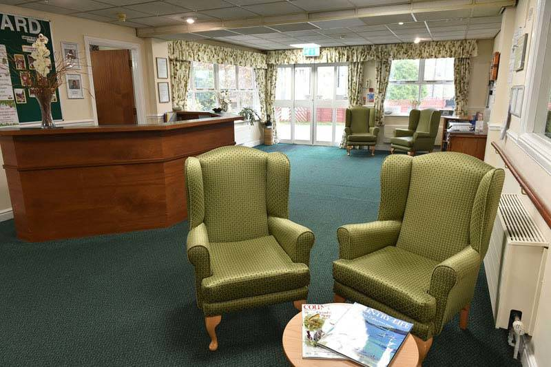 reception area care home Sheffield