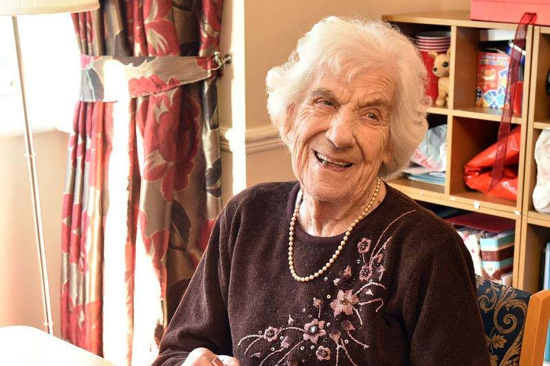 resident in happy mood nursing home West Yorkshire