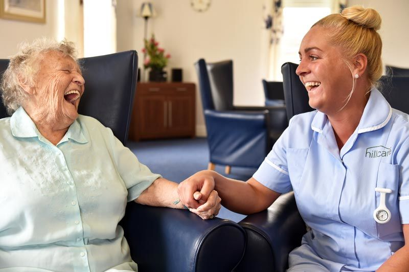 resident staff happy mood care-home Newcastle upon tyne