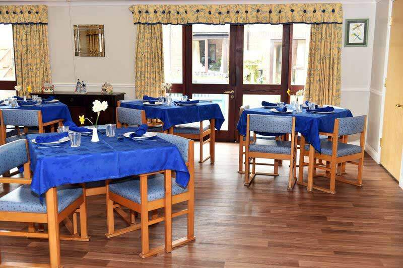 residential care home dining hall view North Yorkshire