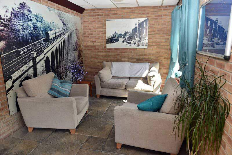 residential home sitting area sofas