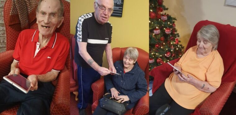 Tablets keep care home residents connected with loved ones