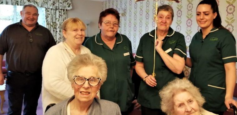 Retirement party for care home worker Wendy