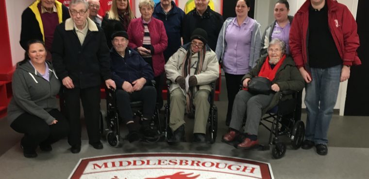 Riverside Stadium tour for elderly on International Men's Day