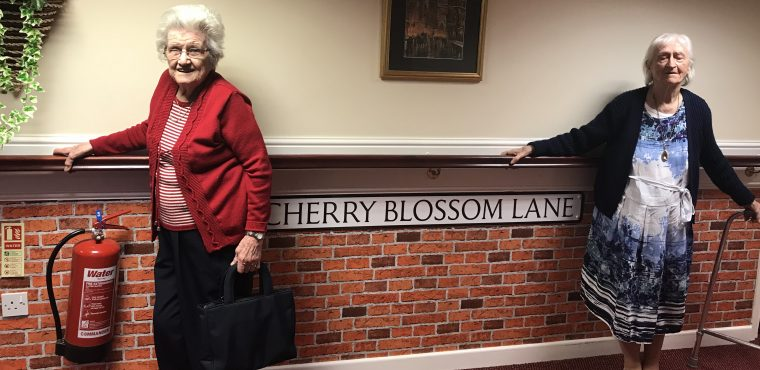 Street signs help dementia residents navigate their care home