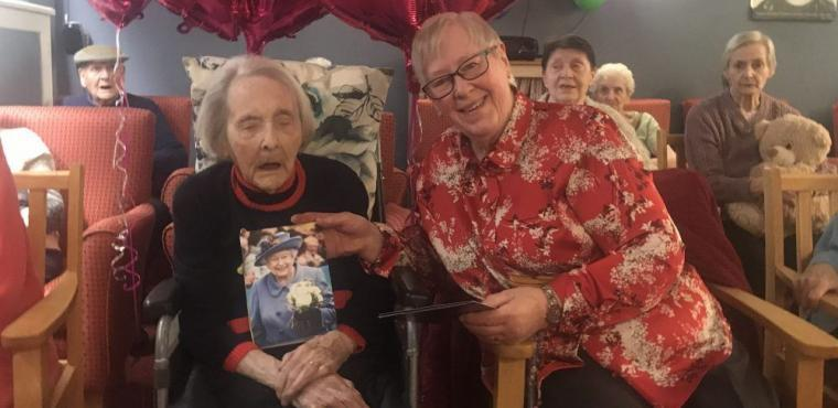 Violet's 100th birthday celebrated with family and friends