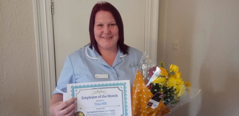 Tina Hill rewarded for compassion at Chesterfield care home