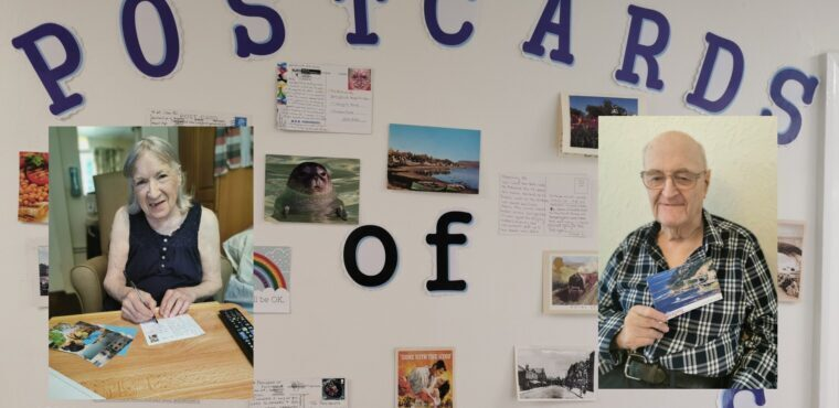 Postcards of kindness for Chesterfield care home residents