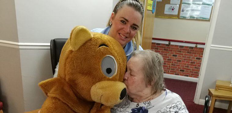 Bear roams Teesside care homes in search of hugs
