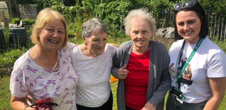 Gardening brings long-lost sisters back together for surprise reunion