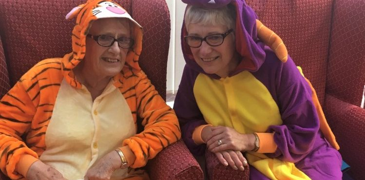 Pyjama party and pampering at Teesside care home
