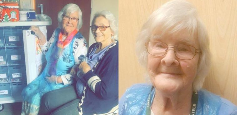 94-year-old tuck lady serving fellow care home residents