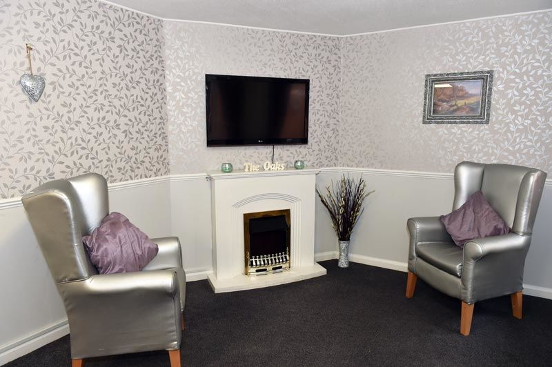 tv room Northumberland care home
