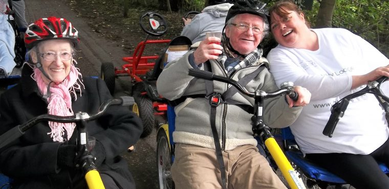 Elderly pedal power raises funds for allotment and charity