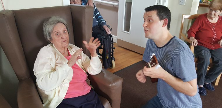 Music and exercise combined to get residents moving
