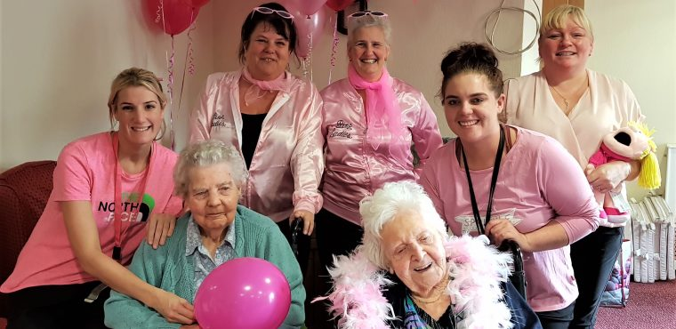 Care home's Pink Ladies raise funds for breast cancer charity