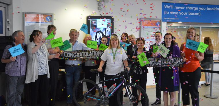 Wendy completes London to Paris cycle for Alzheimer's