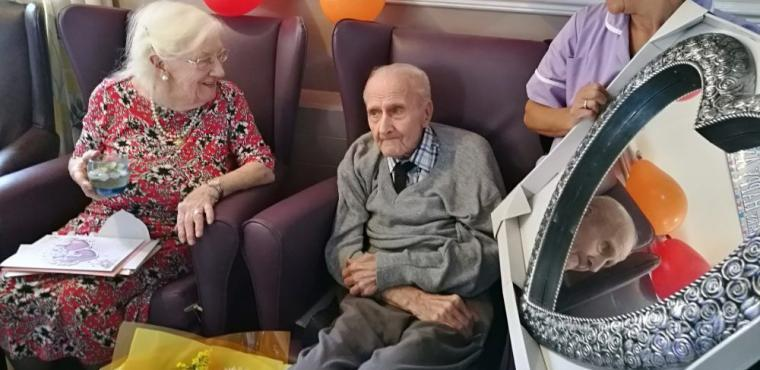 Bobby & Muriel celebrate their 64th wedding anniversary